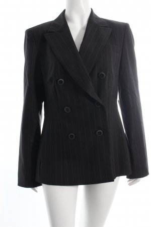 Escada Blazer schwarz-orange Nadelstreifen Business-Look