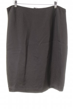 Escada Pencil Skirt black-gold-colored spots-of-color pattern elegant