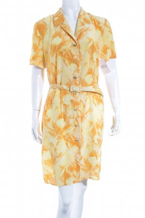 Escada Blusenkleid hellorange-gelb florales Muster Gypsy-Look