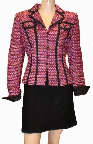 Escada Blazer en laine magenta-noir laine vierge
