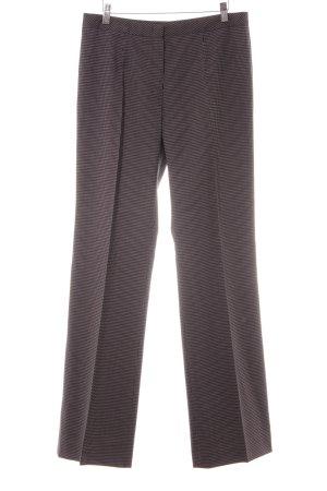 Escada Pantalon à pinces blanc-bleu foncé rayure fine style d'affaires