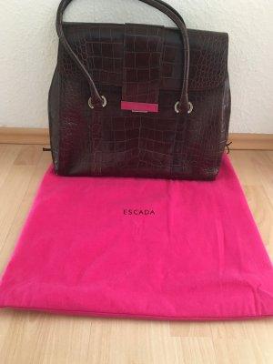 Escada Business Bag dark brown leather