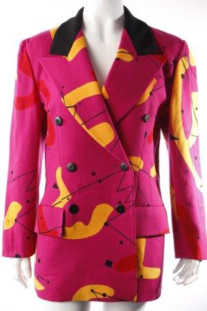 Escada by Margaretha Ley Vintage Wollblazer pink gemustert