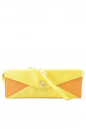 Escada Clutch gelb-orange Colourblocking Elegant