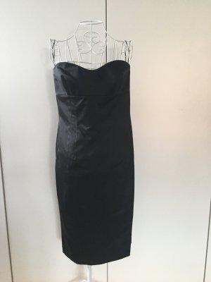 Escada Vestido corsage negro Seda