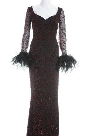 Escada Couture Abendkleid schwarz-rot 30ies-Stil