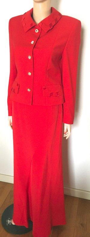 Escada Couture Tailleur rosso-oro Lana vergine