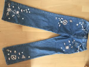 Escada Couture Hoge taille jeans staalblauw Katoen