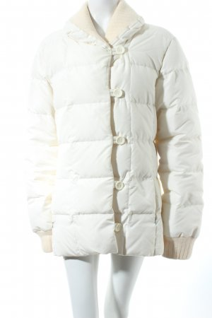 Escada Daunenjacke creme Materialmix-Look