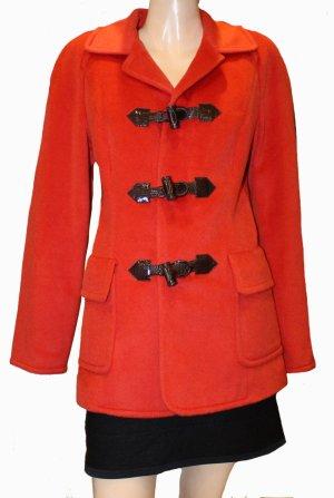 ESCADA Dufffle Coat Jacke rot Kaschmir Alpaka Gr. 38/40