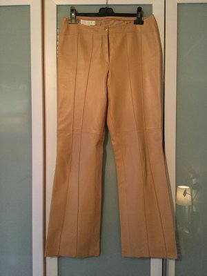 Escada Leather Trousers beige