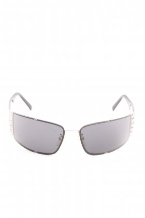 Escada Angular Shaped Sunglasses black-silver-colored casual look