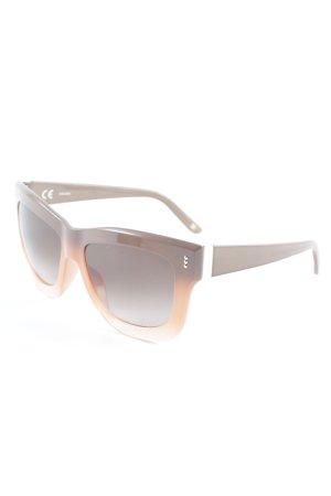 Escada eckige Sonnenbrille apricot-hellbraun Farbverlauf Street-Fashion-Look