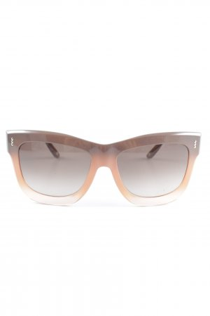 Escada Angular Shaped Sunglasses apricot-light brown color gradient