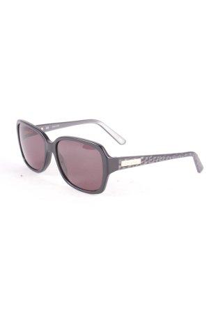 Escada eckige Sonnenbrille schwarz-dunkelgrau Animalmuster klassischer Stil
