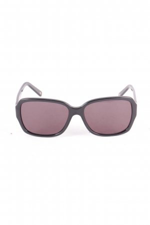 Escada Angular Shaped Sunglasses black-dark grey animal pattern classic style