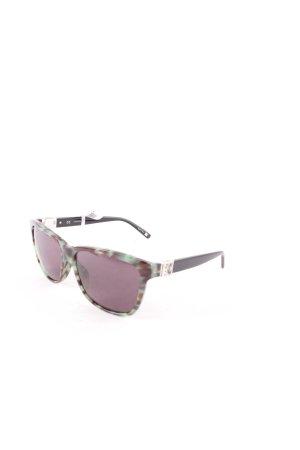 Escada Angular Shaped Sunglasses turquoise-dark brown animal pattern