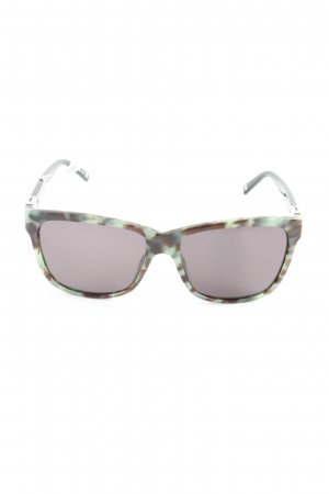Escada Angular Shaped Sunglasses turquoise-dark brown animal pattern