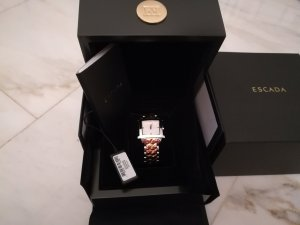 Escada Watch With Metal Strap silver-colored-rose-gold-coloured