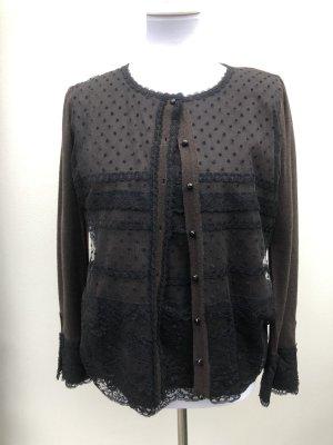 Escada Knitted Twin Set black-brown new wool