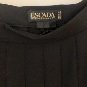 Escada Plaid Skirt black polyester