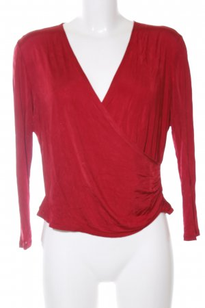 Escada Glanzbluse rot Casual-Look
