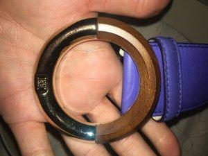 Escada Cinturón de cuero marrón-púrpura