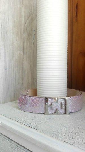 Escada Gürtel in rose Schlangenlederoptik