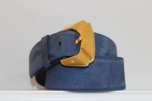 Escada Cinturón de cuero azul Gamuza