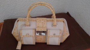 Escada Carry Bag pale yellow leather