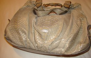 Escada Pouch Bag gold-colored-oatmeal leather
