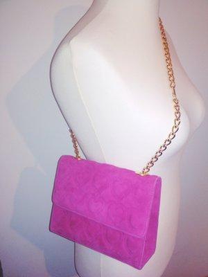 Escada Handtasche *Herz* Leder in pink / gold