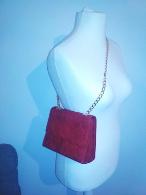 Escada Handbag dark red-red leather