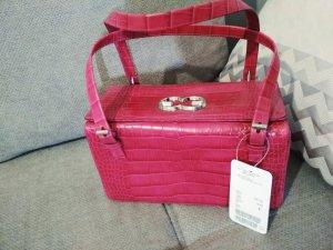 Escada Handbag magenta-raspberry-red leather