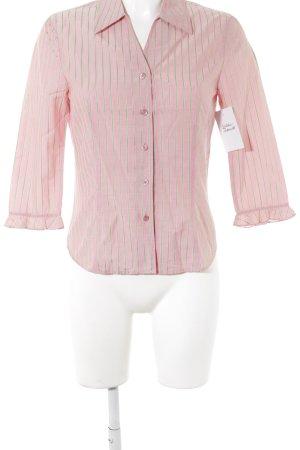 Escada Hemd-Bluse rosa-grün Streifenmuster Casual-Look