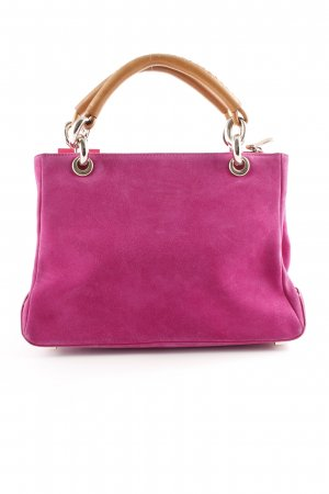 Escada Carry Bag violet-cognac-coloured classic style