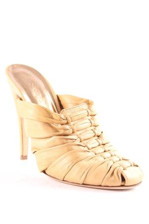 Escada High Heel Sandaletten beige extravaganter Stil