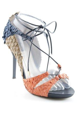 Escada High Heel Sandaletten mehrfarbig Party-Look
