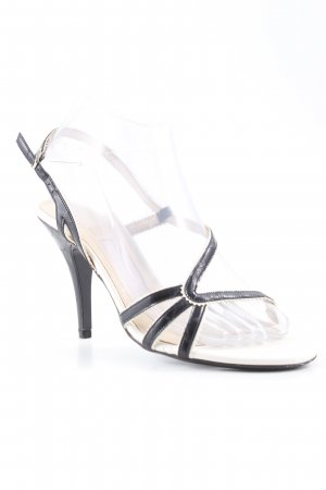 Escada High Heel Sandaletten nude-schwarz Party-Look