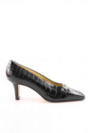 Escada High Heels schwarz Animalmuster Business-Look