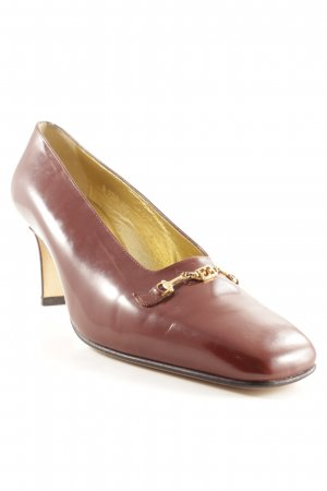 Escada High Heels braun-goldfarben 90ies-Stil