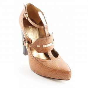 Escada High Heels braun-hellbraun Casual-Look
