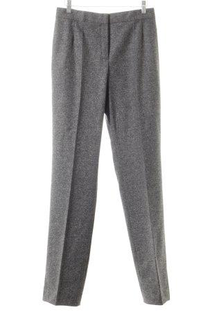 Escada Pantalón de cintura alta gris moteado estilo clásico