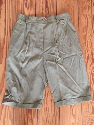Escada, highwaist-Shorts, olivgrün, grün, Vintage-Shorts, hochwertig, Größe 36