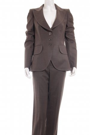 Escada Hosenanzug graubraun Business-Look