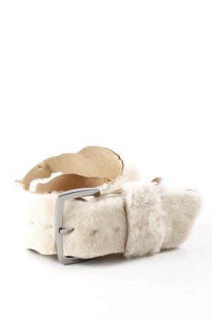 Escada Cinturón de cadera blanco puro-crema estilo extravagante