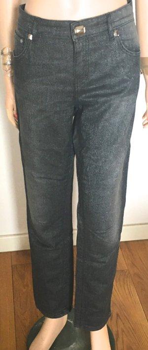 Escada Stretch Jeans silver-colored-grey mixture fibre