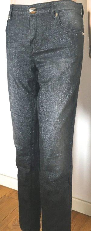 Escada Stretch jeans donkergrijs-zilver Gemengd weefsel