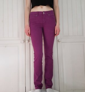 Escada Jeans Hose Lila Voilett Pants 36 S Anzughose Breite Jeans