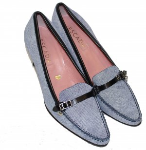 ESCADA Jeans PUMPS blau Gr. 37